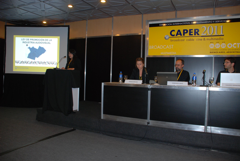 Locutora de Expo Caper 2011 (Costa Salguero) Presentación de Disertantes de todas las Conferencias,Seminarios y Mesas Redondas  de la Expo.